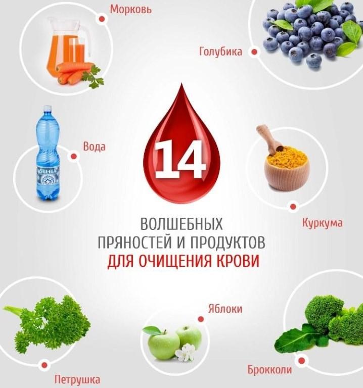 продукты которые чистят кровь